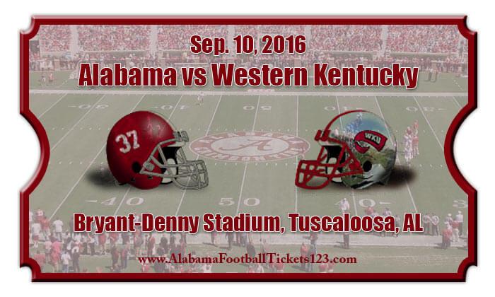 Alabama Crimson Tide vs Western Kentucky Hilltoppers ...